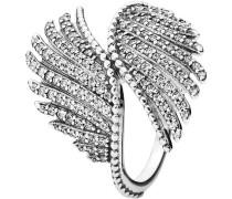"Ring Schimmernde Phoenixfeder ""190960CZ"", 925er"