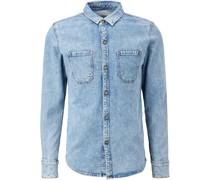 Jeanshemd, aufgesetze Taschen, Kent-Kragen,
