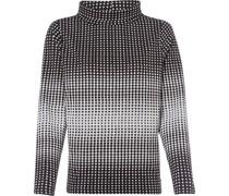 Sweatshirt, Stehbund, grafisches Muster,