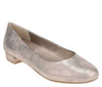 Ballerinas, Veloursleder, schimmernd, Wechselfußbett