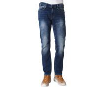 Jeans, Baumwolle, Five-Pocket-Stil, Waschung