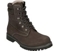 Boots, gefüttert mit Lammfell, echtes Leder, warm,