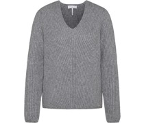 Pullover, V-Ausschnitt, Emblem,