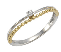Ring 375/- gold bicolor Zirkonia