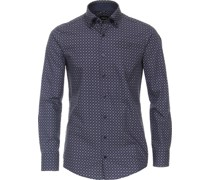 Businesshemd,Button-Down,  Printodern Fit,