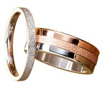 Ring Set, stahl/roségold