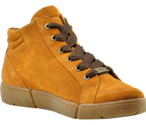 Sneaker, knöchelhoch, Rauleder, Plateau,