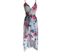 Maxi Kleid, floral, Spaghettiträger,