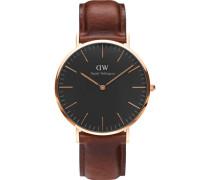 Classic Black Armbanduhr St Mawes, Rose Gold 40 mm DW00100124