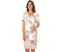 Kleid, Kurzarm, V-Ausschnitt, tailliert,