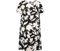 Kleid, Kurzarm, kurz, Floral, Rundhals-Ausschnitt,