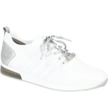 Sneaker, Strick-Optik, Glitzer-Details, Boho-Design,