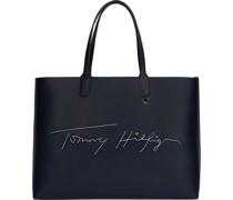 "Shopper ""Iconic Tommy"", Kunstleder, uni,"