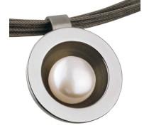 Anhänger, Edelstahl, Süßwasser-Buttonperle ø 9 mm AN158