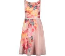Kleid, kurz, ärmellos, U-Boot-Ausschnitt, floral,
