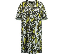 Kleid, abstrakter Blätterprint, lockere Passform,
