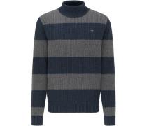 Pullover, Wolle, Rollkragen, Blockstreifen,