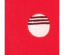 Chiffonkleid, Stehkragen, Schluppe, Print, Elastikbund,