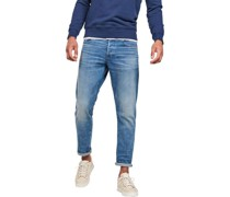 """Jeans """"3301 Straight Tapered"""", Waschungenabel-Patch,"""