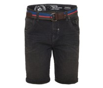 Bermuda-Jeans, Stretch, 5-Pocket, Gürtel,