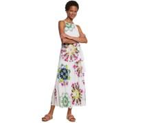 Kleid, lang, ärmellos, Batik-Muster,