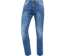 Jeans, 1/1, Slim Fit, 5-Pocket, Waschung, Stretch,