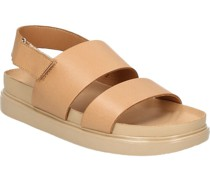 Glattleder-Sandalen, breite Riemen, Klettverschluss,