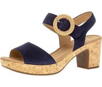 Sandaletten, Rauleder, Korkoptik,