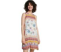 Kleid, kurz, ärmellos, Rundhals, Allover-Print,