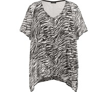 Shirt, Zebra-Alloverprint, Bogenkante,