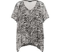Shirt, Zebra-Alloverprint, Bogenkante,