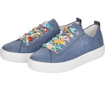 Sneakers, sportlich, florale Schnürung,