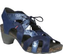 Leder-Sandaletten, Schnürung, Glanz,