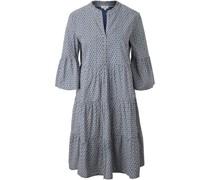 Kleid, Baumwolleidi, 3/4-Arm, Puffärmeluster,