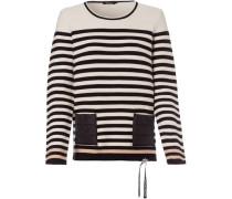 Pullover, gestreift, Zugband,