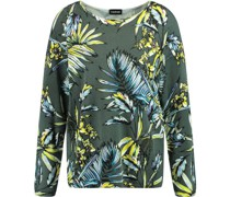 Langarmshirt, Tropical-Printesh-Details,