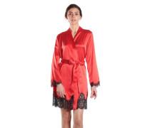 Seiden-Kimono mit Spitze Soie d'Amour
