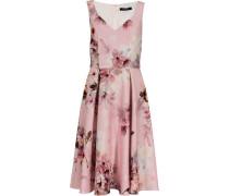 Kleid, V-Ausschnitt, Print,