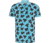 Poloshirt, Kurzarm, florales Muster,