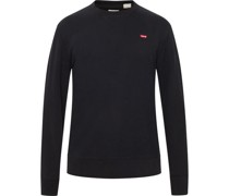 Sweatshirt, kleines Logo, Rundhals,