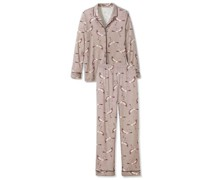Pyjama, durchgeknöpft, Print,