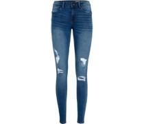 Jeans, Skinny Fit, Destroyed-Effekt,