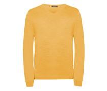 Pullover, Rippbündchen, einfarbig, V-Ausschnitt,