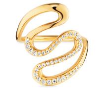 Ring 925/- Sterling Silber vergoldet Topas