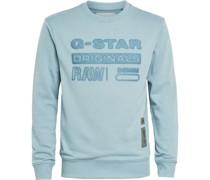 Sweatshirt, 3D-Wording, Patches,