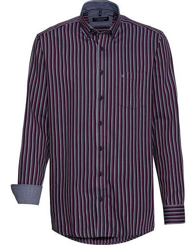 Streifen-Freizeithemd, 1/1 Arm, Button-Down, Comfort Fit