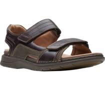 Sandale, sportlich, zweifarbig, Klettverschluss,
