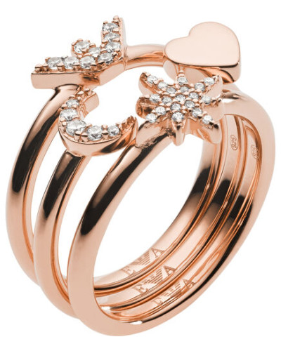 """Ring Set """"EG3392221"""", 925er Silber, 59"""