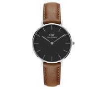 Classic Petite Armbanduhr Durham, Silbermm Black DW00100178