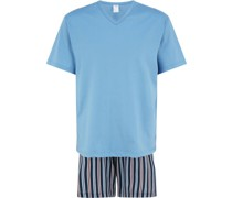 Schlafanzug, Kurz, Streifen,